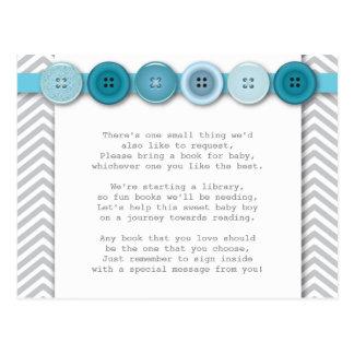 Blue Button Insert card Postcard