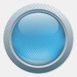 Blue button sticker
