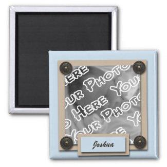 Blue Buttons & Brackets Magnet magnet