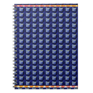 BLUE Buttons Graphic Pattern Beautiful GIFTS FUN Note Book