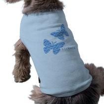 Blue Buttterflies - Doggie Ribbed Tank Top