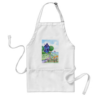 blue by the sea adult apron