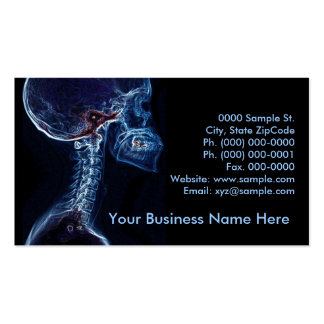 Blue C-spine customizable business card