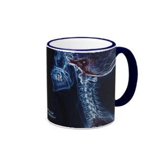 Blue C-spine double image mug