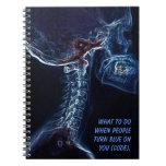 Blue C-spine notebook