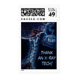 Blue C-Spine X-ray postage stamp