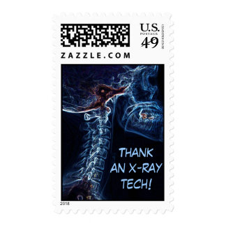 Blue C-Spine X-ray postage stamp Stamp