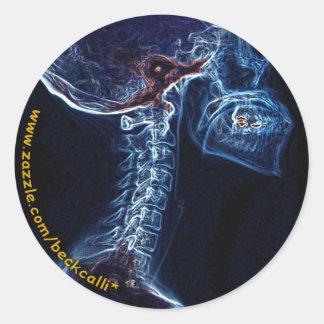 Blue C-spine X-ray sticker