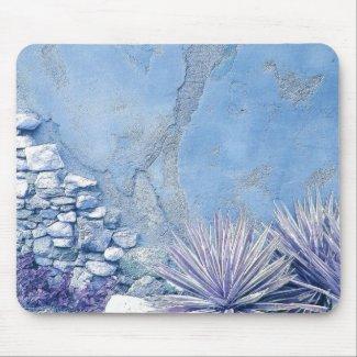 BLUE CACTUS GARDEN mousepad