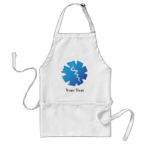 Blue caduceus medical gifts adult apron