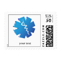 Blue caduceus medical gifts postage