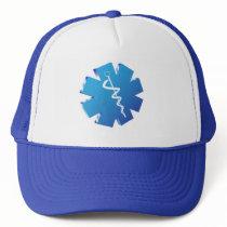 Blue caduceus medical gifts trucker hat