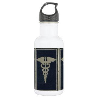 Blue Caduceus Water Bottle