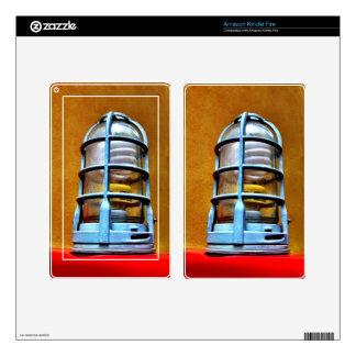 Blue Caged Light Urban Design Kindle Fire Skin