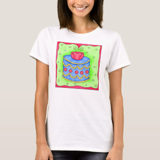 Blue Cake Rose Tee Shirt