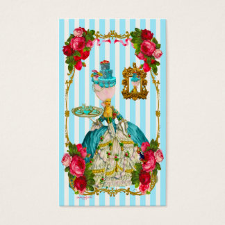 Blue Cakes and Pink Rose Tea Business Card