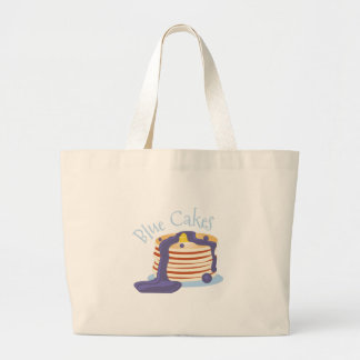 Blue Cakes Large Tote Bag