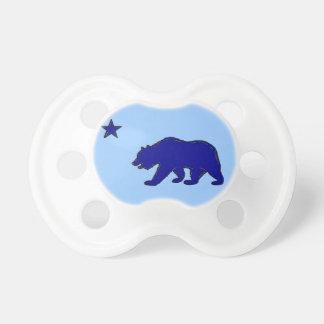 Blue California bear flag symbol baby pacifier