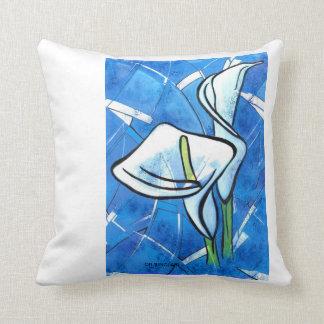 Blue Calla Lilies by CR Sinclair Pillow