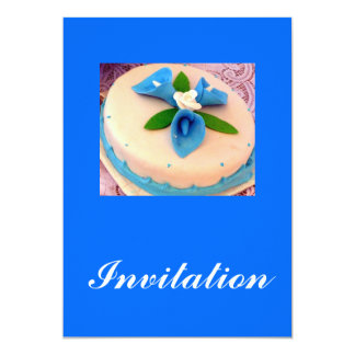 Blue calla lilies invitation