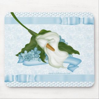 Blue Calla Lily Mousepad