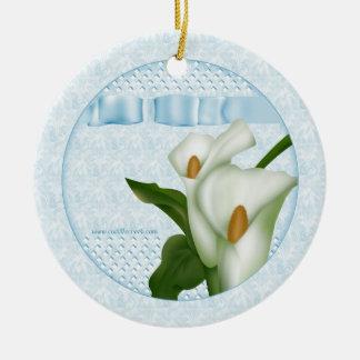 Blue Calla Lily Ornament Gift Tag