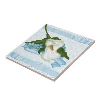 Blue Calla Lily Tile