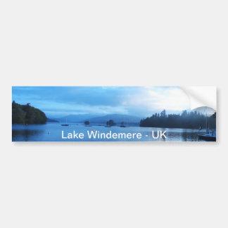 BLUE CALM - LAKE WINDEMERE - UK BUMPER STICKER