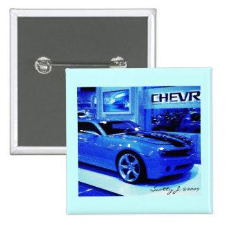 Blue Camaro © 2009 S.J. Pinback Buttons