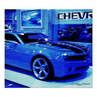 """Blue Camaro"" © 2009 S.J. Posters"