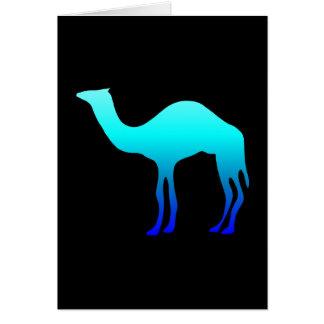 Blue Camel Greeting Cards