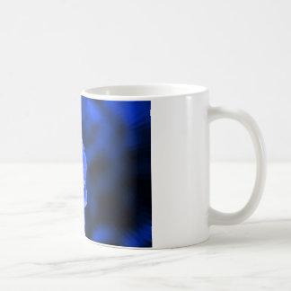 blue camelia coffee mug
