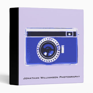 Blue Camera Photography Business Binder