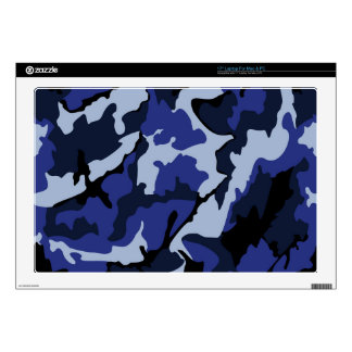 """Blue Camo, 17"""" Laptop Computer Skin For Mac & PC Decals For 17"""" Laptops"""