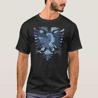 Blue Camo Albanian Eagle 3D Playera