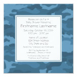 Blue Camo Baby Boy Shower or Party Custom Announcement