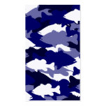 Blue Camo Bass Fishing Business Card Templates