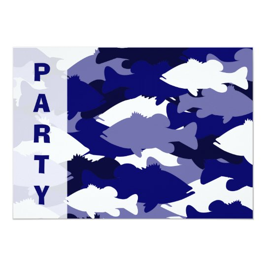 Blue Camo Bass Fishing Card