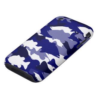 Blue Camo Bass Fishing iPhone 3 Tough Covers
