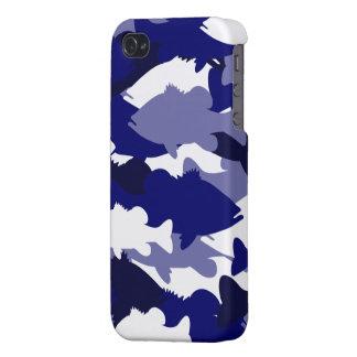 Blue Camo Bass Fishing iPhone 4/4S Case