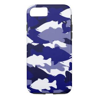 Blue Camo Bass Fishing iPhone 7 Case