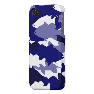 Blue Camo Bass Fishing iPhone 4/4S Cases