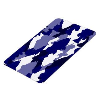 Blue Camo Bass Fishing Magnet