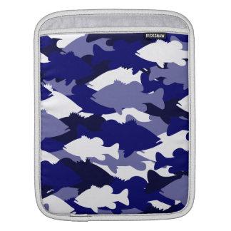 Blue Camo Bass Fishing Sleeve For iPads