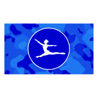 Blue Camo; Camouflage Ballet Business Cards