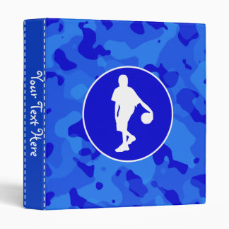 Blue Camo; Camouflage Basketball Vinyl Binders