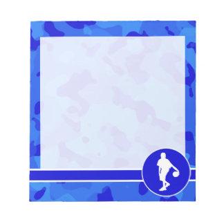 Blue Camo; Camouflage Basketball Notepad
