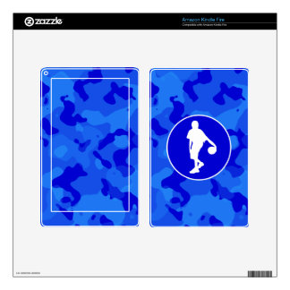 Blue Camo; Camouflage Basketball Skins For Kindle Fire