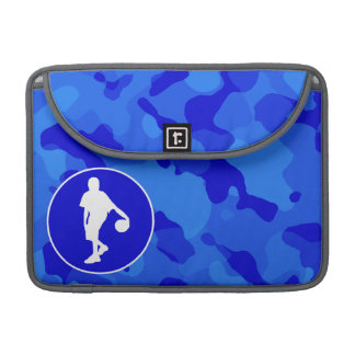 Blue Camo; Camouflage Basketball Sleeves For MacBook Pro