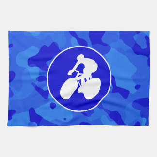 Blue Camo; Camouflage Cycling Towel